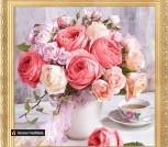 Алмазная вышивка-мозаика 'Пионы и розы' (400х400 мм)