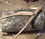 Парные шпильки из можжевельника и воска