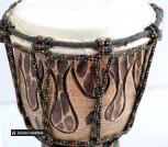 Барабан Джамбе 30 см резьба
