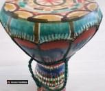 Барабан африканский керамика и кожа