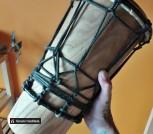 Барабан Ашико из дерева и кожи ручной работы