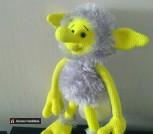 Вязаная игрушка Домовой-Лимонка ростом 30см