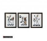 Картина-триптих 'Поварихи', ручная работа,вышивка.