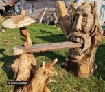 Садовые скамейки и скульптуры