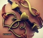 Парный браслет для влюблённых