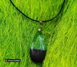 Кулон из дерева морёный дуб и эпоксидной смолы