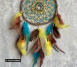 Ловец снов ручная работа натуральные перья декор подарок