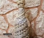 Декоративная плетеная бутылочка