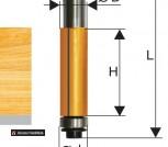 Фреза кромочная прямая Энкор ф9,5х25мм хв 8мм 10521