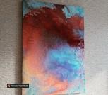 Картина флюид арт