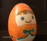 Музыкальные яйца-неваляшки hand-made, дерево