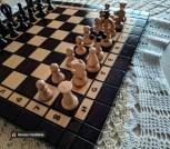 Шахматы, шашки, нарды (ручная работа)