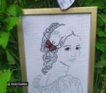 Вышивка крестиком Серия Девушка с бабочкой 9
