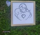 Вышивка крестиком Мама с малышом 2