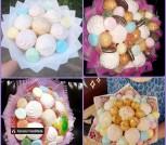 Букеты из сладостей. Маршмеллоу, зефир, печенье, мармелад.