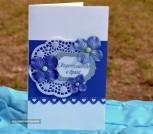 Обложка для свидетельства о браке синяя