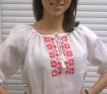Блузка льняная модель 92-16 ручной работы