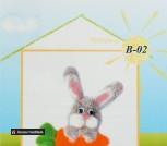Набор для валяния из шерсти 'Любитель морковки'