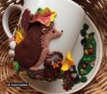 Набор Кружка и блюдце Лесной житель (Ежик)