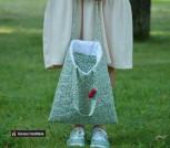 Двухсторонняя стеганная Мягкая сумка-шоппер